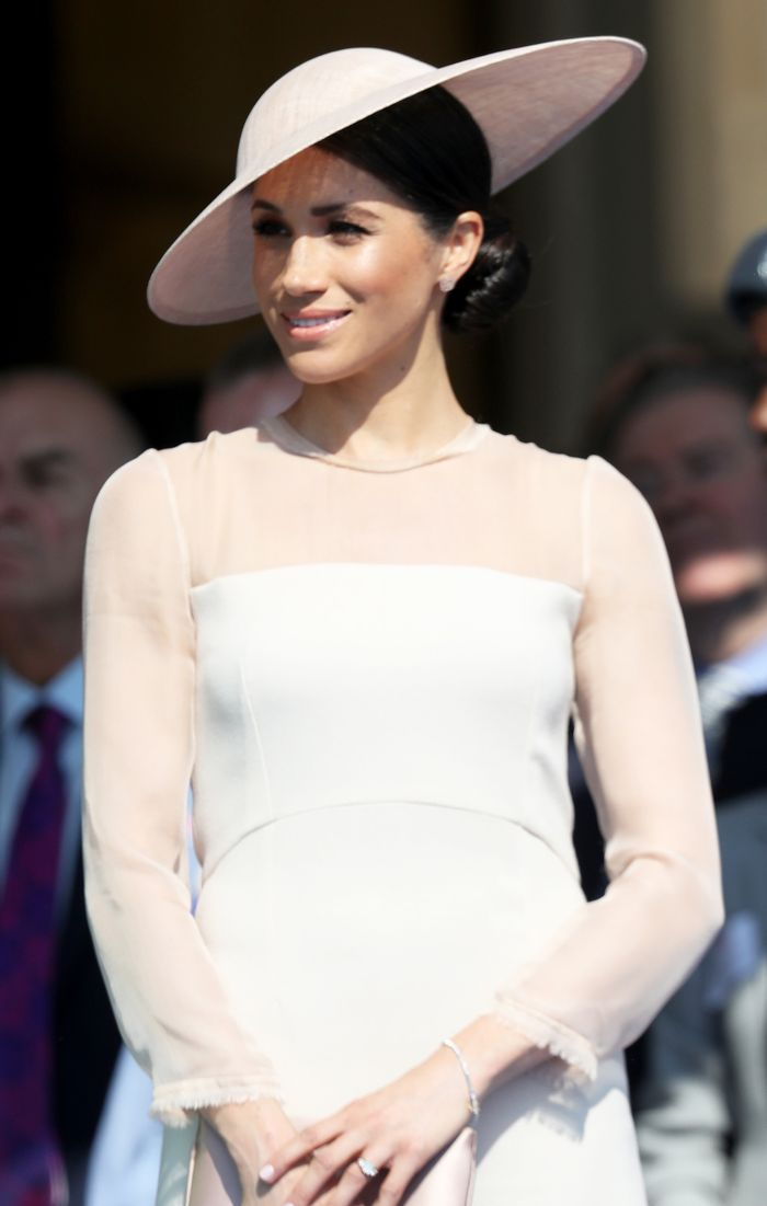 Meghan Markle first appearance after wedding: Goat dress