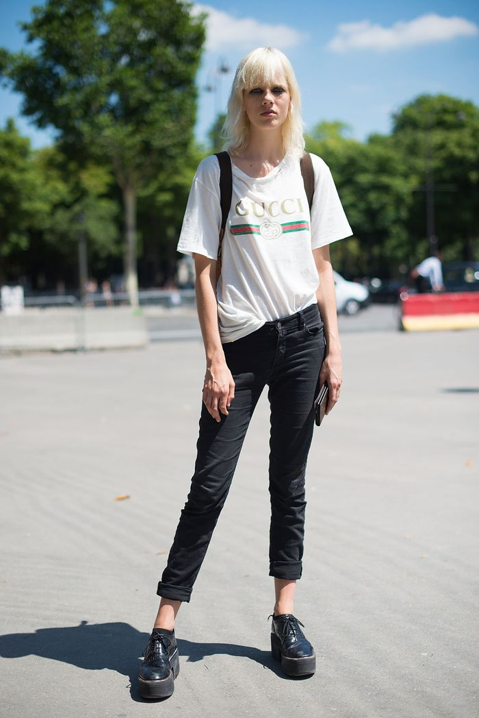 Gucci T-shirt with black jeans