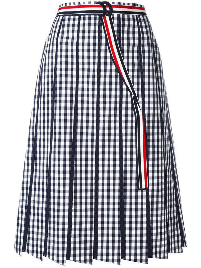 Thom Browne gingham skirt
