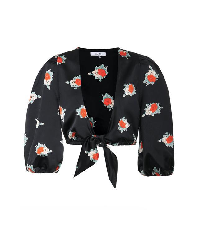 Glenmore floral-printed crop top
