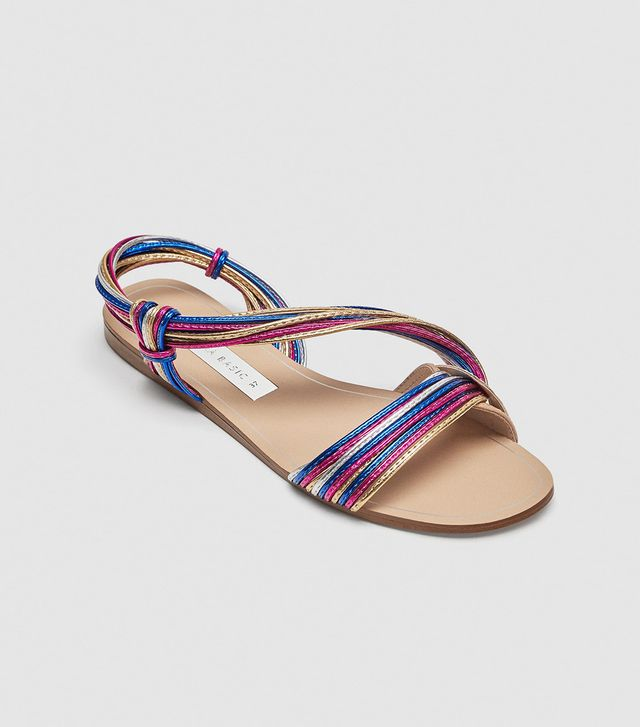 Zara Multicolored Strap Sandals