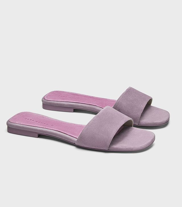 Zara Leather Slides
