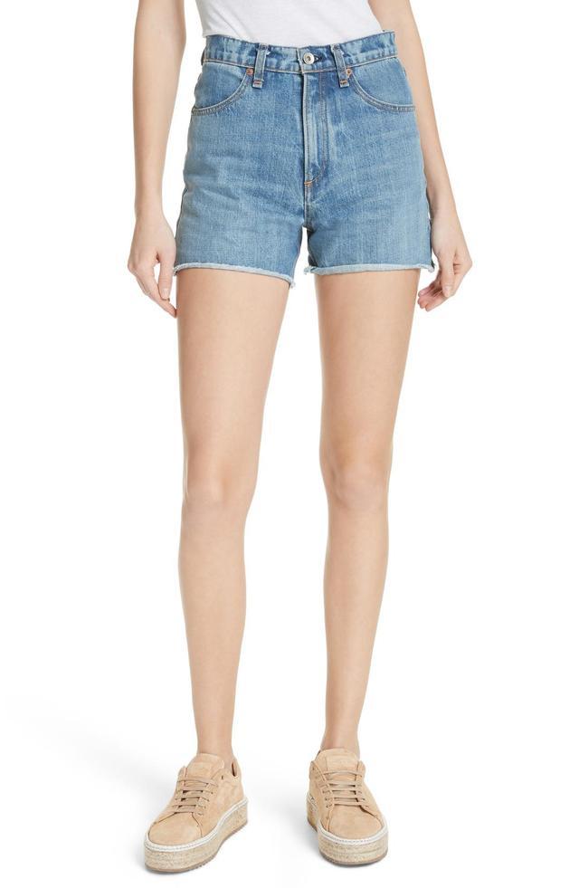 Women's Rag & Bone/jean Torti High Waist Denim Shorts
