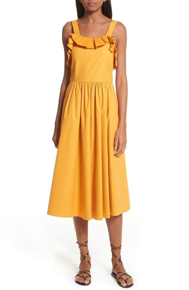 Sunrise Ruffle Midi Dress