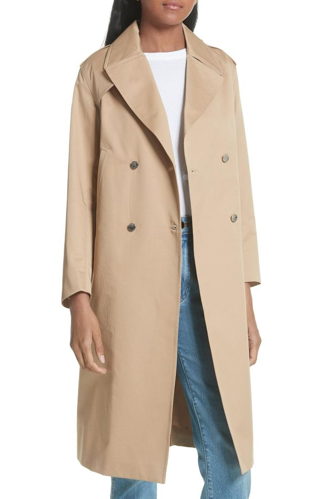Women's Sandro Emastic Laced Back Trench Coat