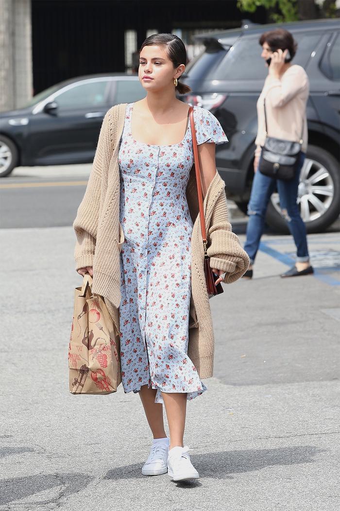 Selena Gomez grandma sweater