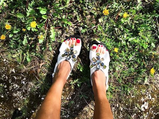 cute embellished sandals for summer