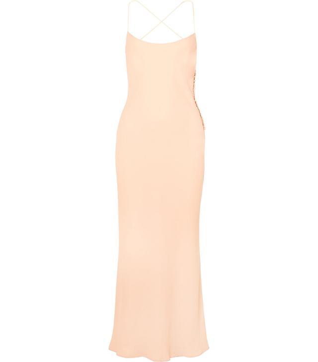 Margot Open-back Crepe Maxi Dress