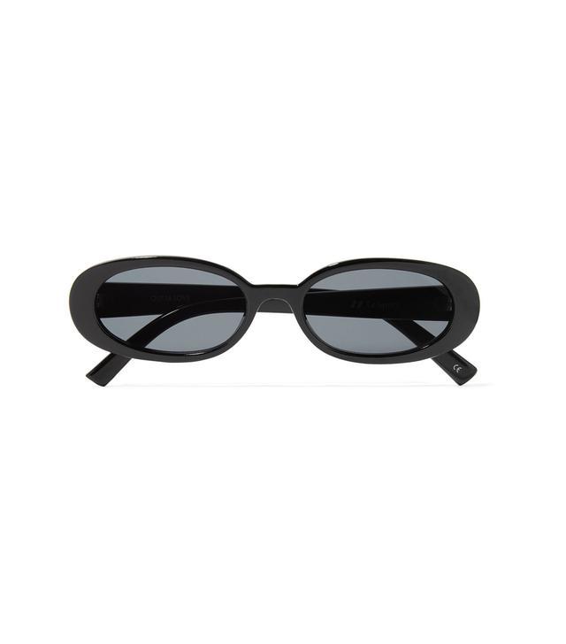 Outta Love Oval-frame Acetate Sunglasses