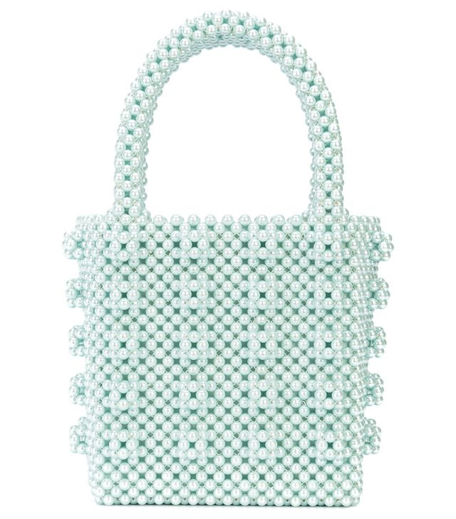all over beaded tote