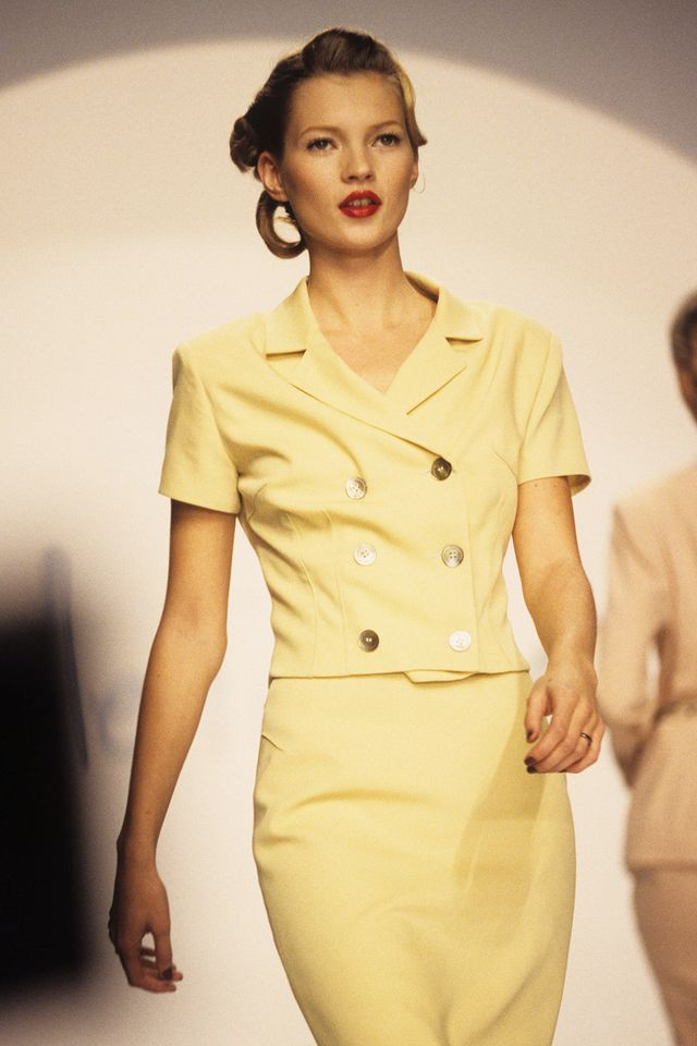 Kate Moss 90s style yellow