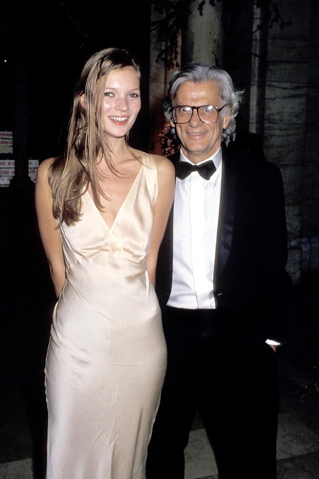 Kate Moss 90s style satin dress