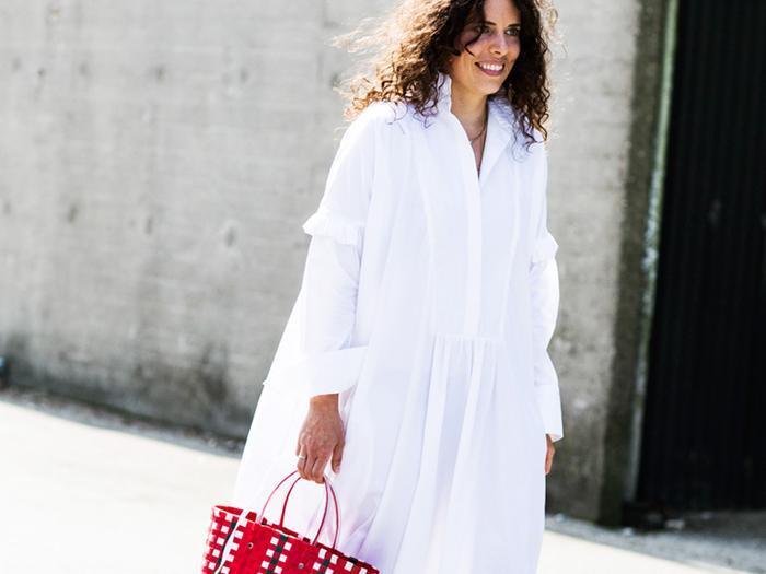 breezy white maxi dress
