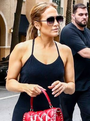 J.Lo Wore the Ultimate One-of-a-Kind Bag With Leggings and Sneakers