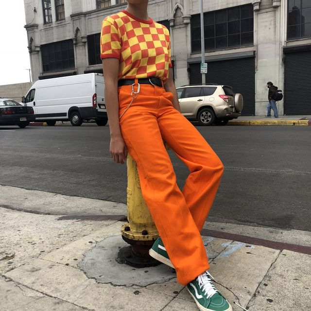 Vintage Orange You Glad To See Me Trousers