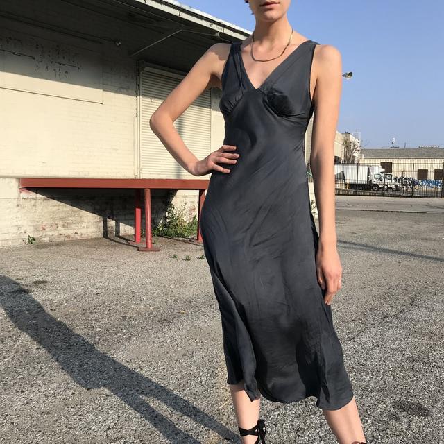 Vintage Midnight Silk Dress