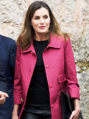 Queen Letizia Wore Leather Leggings Like Only a Royal Would