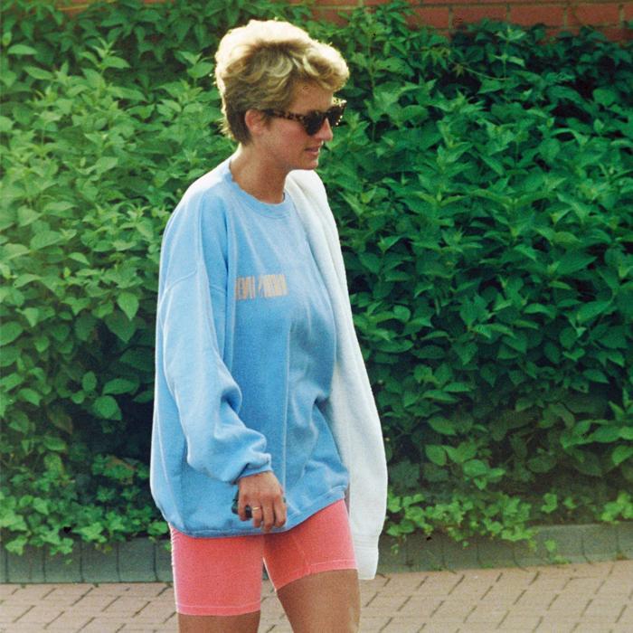 Princess Diana sporty style