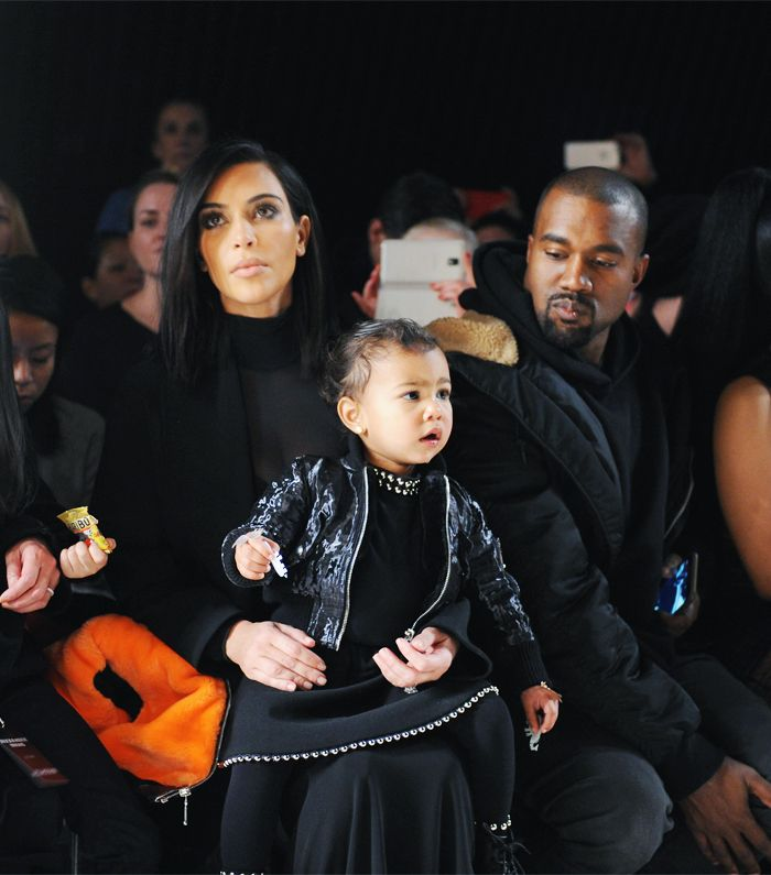 North West wearing Alexander Wang at New York Fashion Week