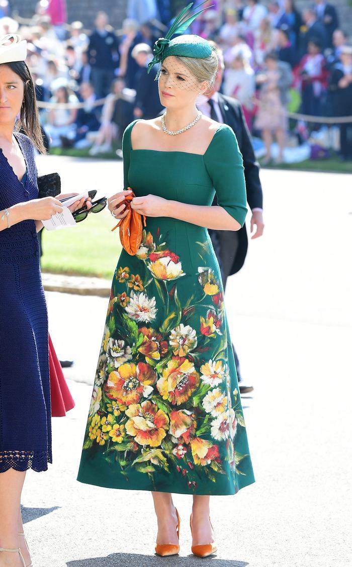 Kitty Spencer Style: Dolce & Gabbana Dress Royal Wedding