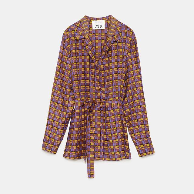 Zara Silk Shirt With Beads