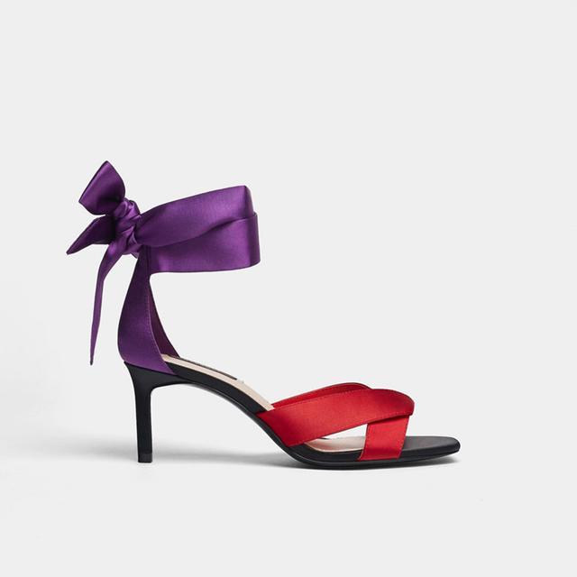 Uterqüe Satin Tie Sandal