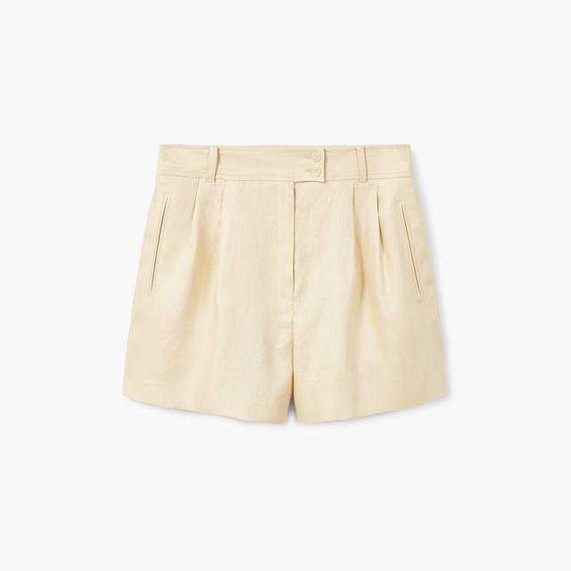 Mango Linen-Blend Shorts