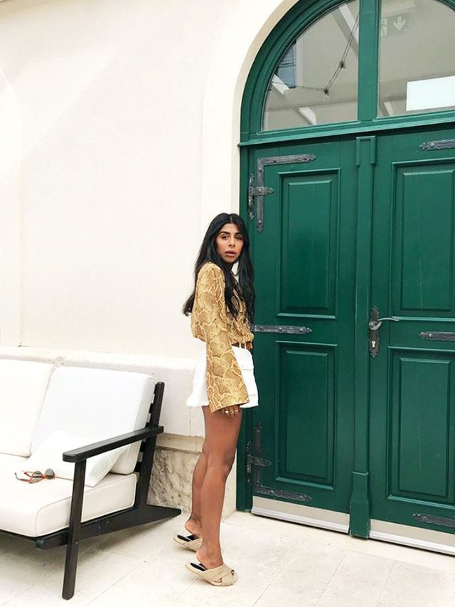 How to Wear Shorts: With a Silky Blouse for the Evening