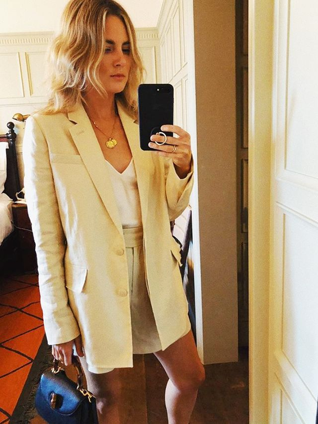 How to Wear Shorts: As a Tailored Short Suit With a Camisole