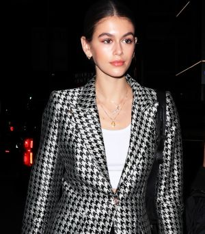 Kaia Gerber's Latest Night-Out Look: Party on the Top, and Gym on the Bottom