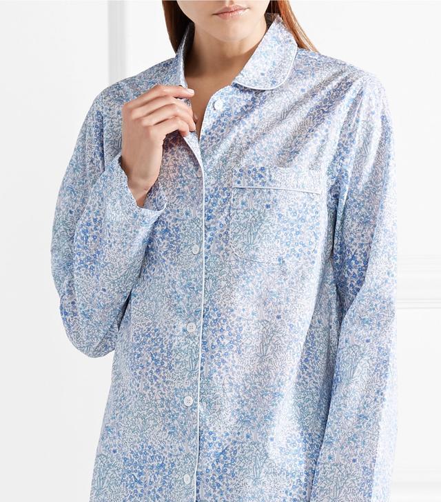 Josephine Printed Cotton-voile Pajama Set