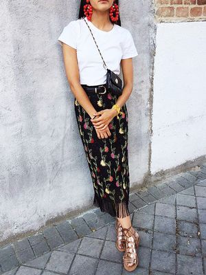 Floral-Print Skirts That Pair Perfectly With Your White Tee