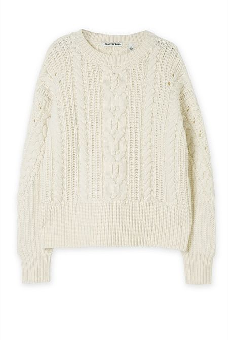 Country Road Cable Swing Knit