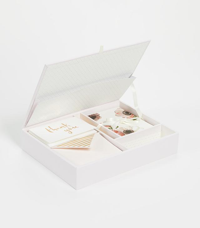 Blushing Floral Keepsake Thank You Card Box
