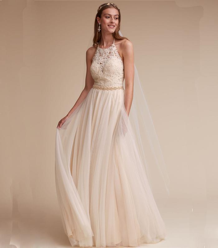 20 halter wedding dresses for a summer wedding who what wear junglespirit Images