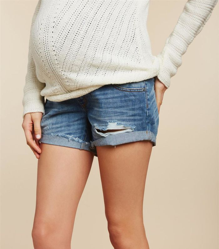 20 Chic Maternity Jean Shorts For Summer Who What Wear