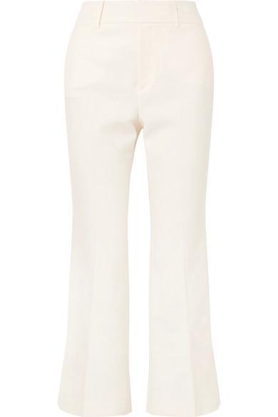 Linen-Blend Flared Pants