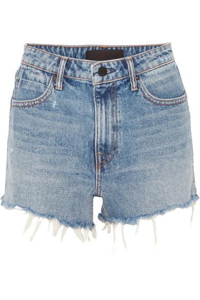 Bite Frayed Denim Shorts