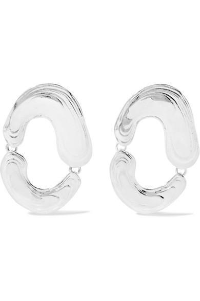Swish Silver Earrings