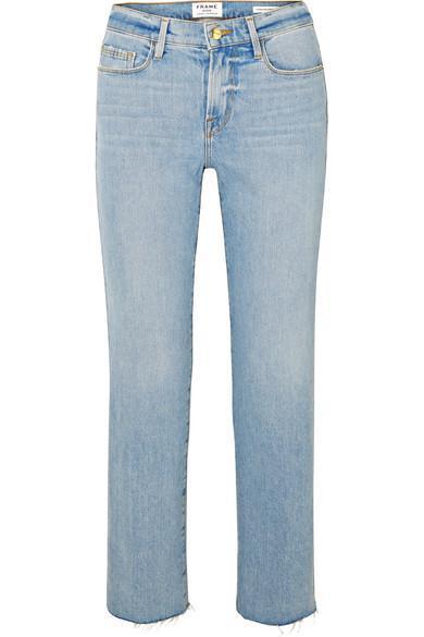 Le Nouveau Cropped Mid-Rise Straight-Leg Jeans