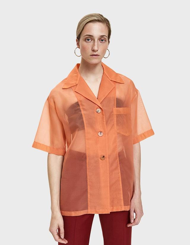 Relovo Sheer Bowling Shirt