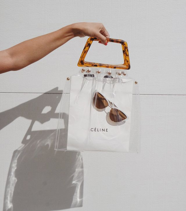 Shop Girl Transparent Tortoiseshell Bag