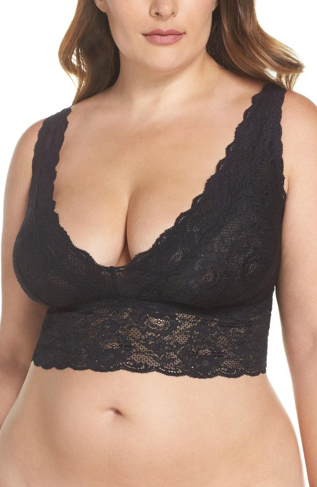 Never Say Never Plungie Lace Longline Bralette