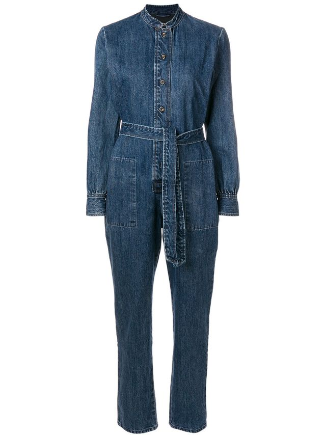 A.P.C. Belted Long-Sleeved Jumpsuit
