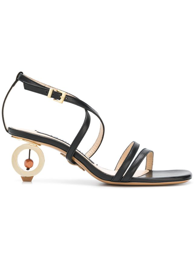Jacquemus Abstract Heel Buckled Sandals