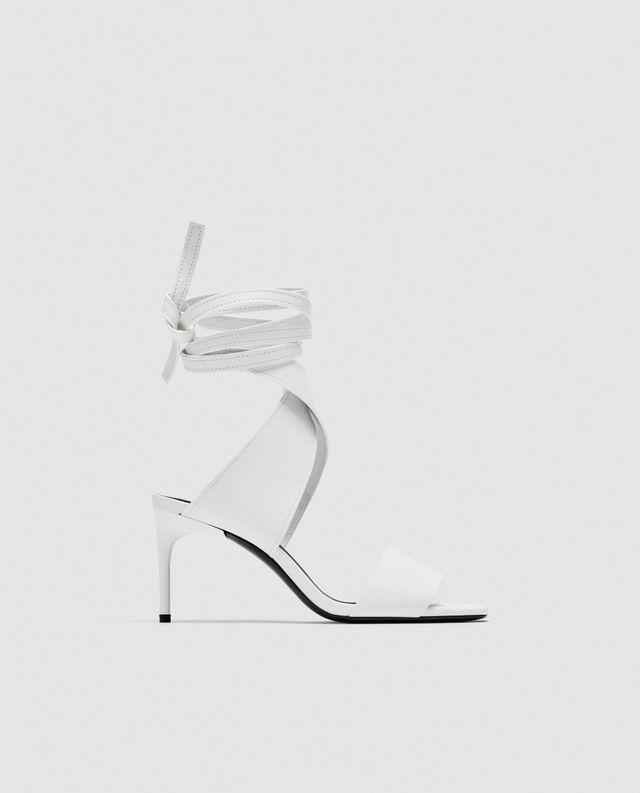 Zara Leather High Heel Sandals