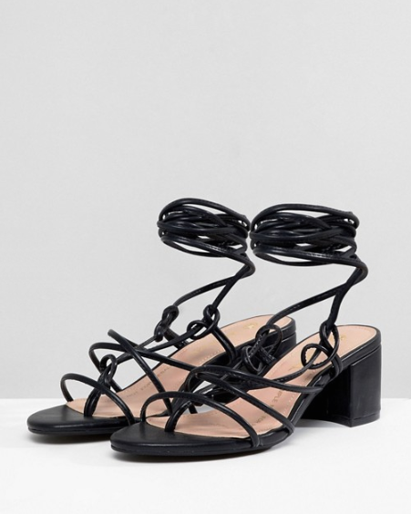 Monki Strappy Block Heeled Sandals