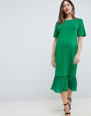 ASOS Maternity Maternity Midi T-Shirt Dress