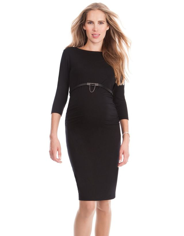 Seraphine Black Maternity Shift Dress