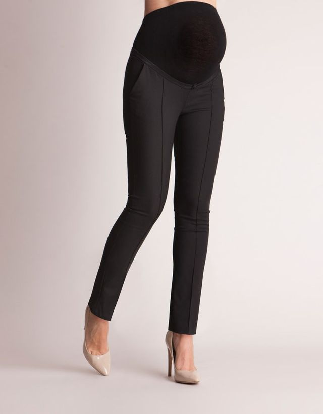 Seraphine Slim Fit Black Maternity Pants